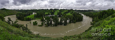 Glenmore Reservoir Photograph - Flooded Calgary Golf And Country Club by Royce Howland