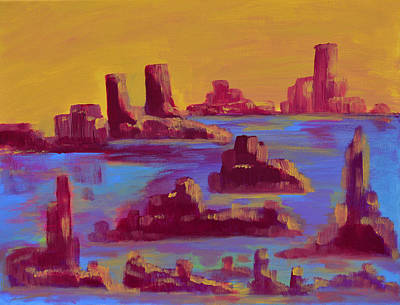 Painting - Flooded Canyon by Donna Blackhall