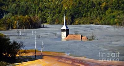 Photograph - Flooded Church by Daliana Pacuraru