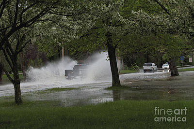 Photograph - Flooded Road by William Norton
