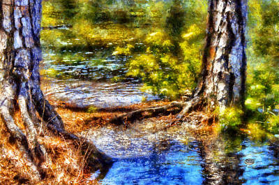 Tree Roots Digital Art - Flooded Roots by Daniel Eskridge