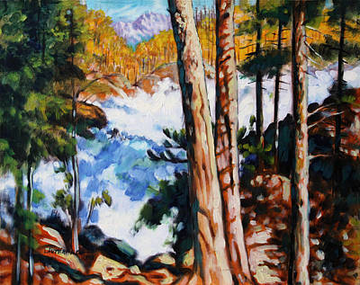 Colorado Mountain Stream Painting - Flooded Stream - Colorado by John Lautermilch