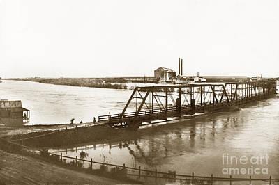 Photograph - Flooding Of Salinas Rive At The Spreckels Sugar Factory At Salinas 1911 by California Views Mr Pat Hathaway Archives