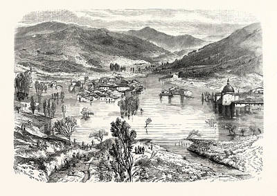 Flooding Of The City Of San Stefano In Tuscany Art Print