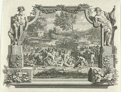 Flooding Of The Rhine And Waal, Adolf Van Der Laan Art Print