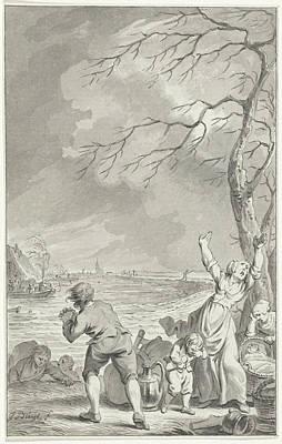 Flooding Rijndijk In Gelderland, 1770, The Netherlands Art Print