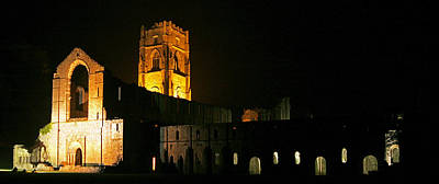 Floodlit Fountains Abbey Art Print by John Topman