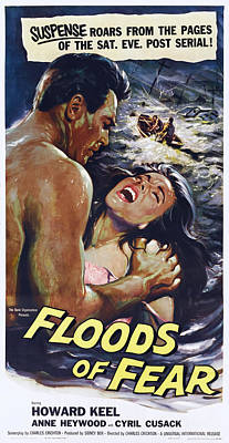 Howard Heywood Photograph - Floods Of Fear, Us Poster, From Left by Everett