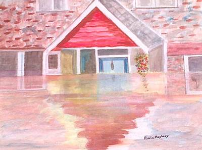 Painting - Floods Uk 2012 by Paula Maybery