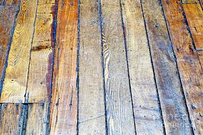 Photograph - Floorboards by Ethna Gillespie