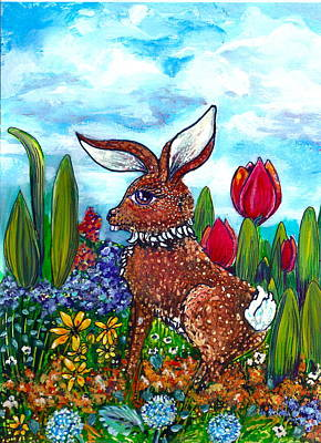 Special Occasion Painting - Flop Ear Rabbit by M E Wood