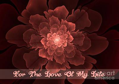 Digital Art - Flor De Amor Love Of My Life by JH Designs
