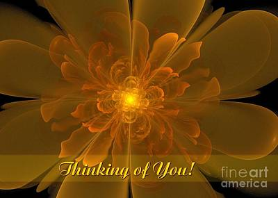 Digital Art - Flor De La Alegria Thinking Of You by JH Designs