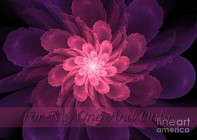 Digital Art - Flor De La Pasion One And Only by JH Designs