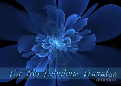 Digital Art - Flor De La Paz Fabulous Friend by JH Designs