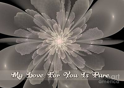 Digital Art - Flor De La Pureza My Love by JH Designs