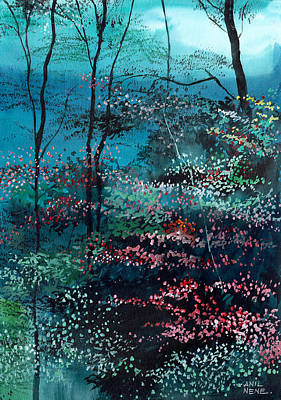 Villa Painting - Flora 1 by Anil Nene