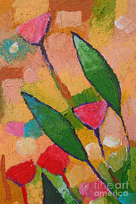 Textured Paint Painting - Flora Abstract by Lutz Baar