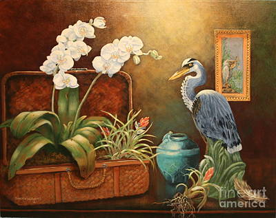 Sandra Williams Painting - Flora And Fauna Tradition by Sandra Williams