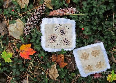 Tapestry - Textile - Flora And Fiber by Linda Marcille