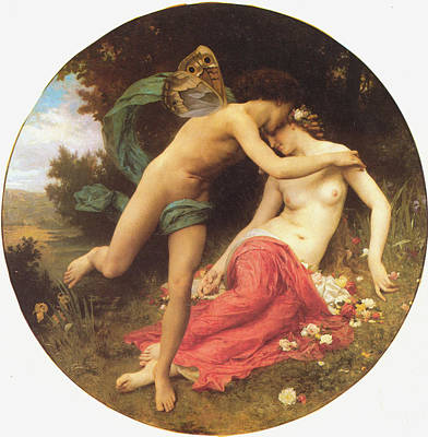 Digital Art - Flora And Zephyr by William Bouguereau