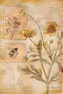 Flora Bumble Bee Art Print