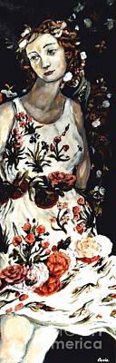 Flora Art Print by Carrie Joy Byrnes