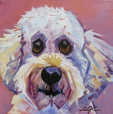 Carter.oil Painting - Flora Dora Fuzzy Face by Sarah Gayle Carter