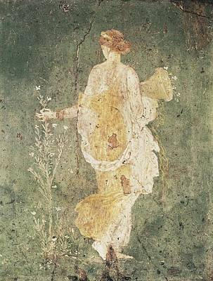 Flora, Goddess Of Spring. 1st C. Bc Art Print by Everett