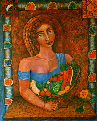Painting - Flora - Goddess Of The Seeds by Madalena Lobao-Tello