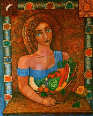 Flora - Goddess Of The Seeds Art Print by Madalena Lobao-Tello