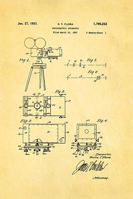Flora Zoom Cinema Camera Patent Art 1931 Art Print