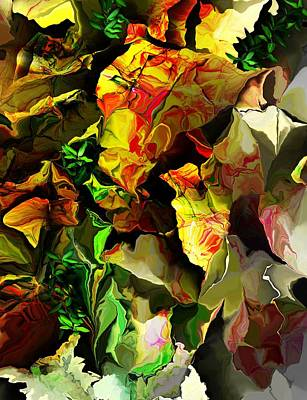 Print featuring the digital art Floral 082114 by David Lane