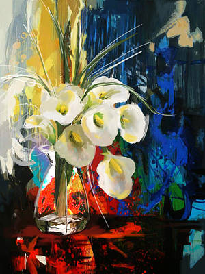 Painting - Floral 6b by Mahnoor Shah