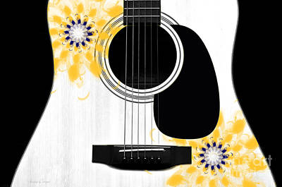 Flora Photograph - Floral Abstract Guitar 31 by Andee Design