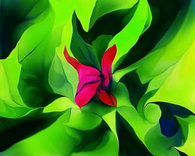 Digital Art - Floral Abstract Play by David Lane
