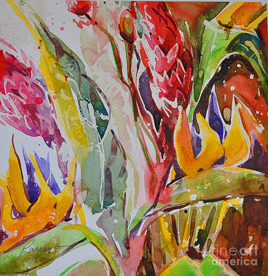 Painting - Floral Abstraction by Roger Parent