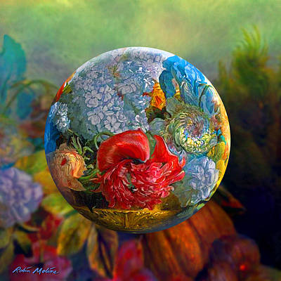 Sphere Digital Art - Floral Ambrosia by Robin Moline