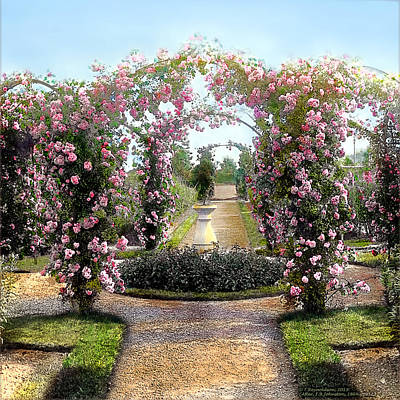 Floral Arch Art Print by Terry Reynoldson