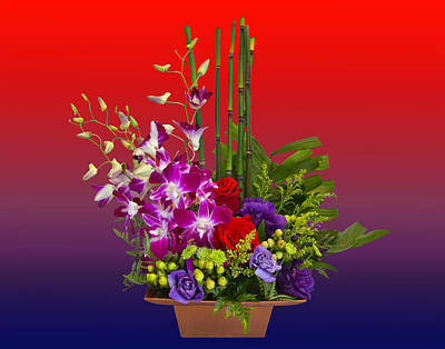 Photograph - Floral Arrangement by Chuck Staley