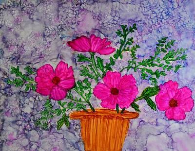 Floral Arrangement Art Print by Linda Brown