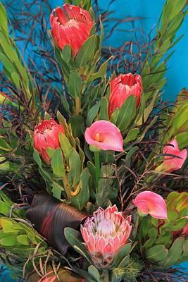 Photograph - Floral Arrangement by Michael Saunders