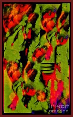 Floral Arrrangement Abstract Art Print by John Malone