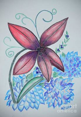 Pastel - Floral Art 14-2 by Maria Urso