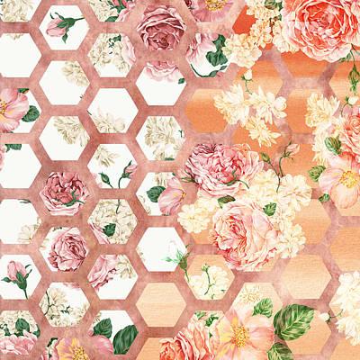 Curves Mixed Media - Floral Art by Ramneek Narang