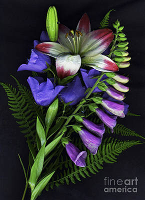 Foxglove Flowers Mixed Media - Floral Bouquet 2 by Sharon Talson