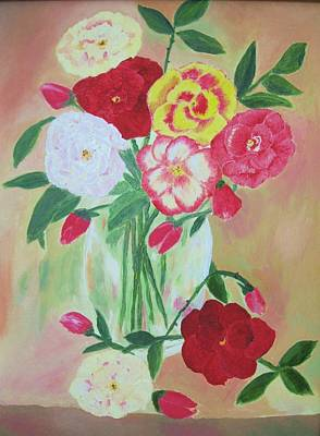 Floral Bouquet Art Print by Edna Fenske