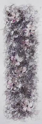 Grape Leaves Drawing - floral cascade II by Rachel Christine Nowicki