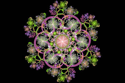 Digital Art - Floral Celebration 2 by Sandy Keeton