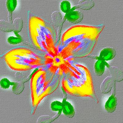 Vibrancy Painting - Floral  by Chandana Arts